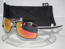 OAKLEY GAUGE 8 M AVIATOR SUNGLASSES OO4124-03 Matte Carbon / Ruby Iridium 0357