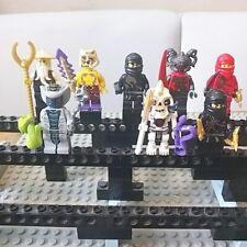 Lego Ninjago Mini Figuren 8 STK. Meister WU Kraut Tannin Nuckal Kai Rattla Cole