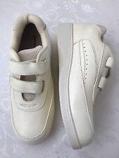 Men's Apex Walking Shoes Size 12 White Straps Walker Comfort Sneakers Ambulator