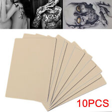 10 X TATTOO PRACTICE SKIN Superb Quality Like Flesh 20x15cm Learn Blank Skin