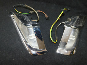 1961 CHRYSLER Front Parking Lights W/Trim Bezels. Used. Nice Driver Condition.