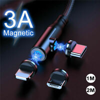 3 in 1 3A Magnetic Fast Charging Charger Cable For Apple iPhone Type C Micro USB
