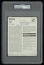 Muhammad Ali signed autograph auto 1977-1979 Sportscaster Card PSA Slabbed