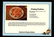 Recipe postcard US Creamy Pralines