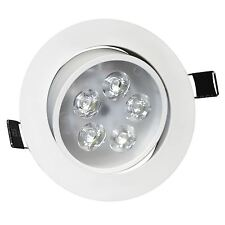 LED Ceiling Downlights Angle Adjustment Recessed Spotlights 5W Cool White