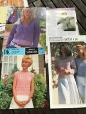 4 Ladies Crochet Patterns Summer Tops, Long & Short-sleeved Cardigans