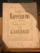 Gariboldi Fantaisie Rappelle-toi G. Rupès partition flûte piano éditions Leduc