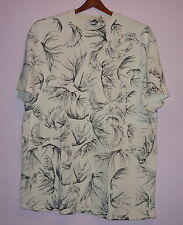 Moose Antlers Front and Back Print T Shirt White Xl