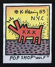 VINTAGE KEITH HARING * Pop Shop Wolf* On Paper- Ink/gouache-1983