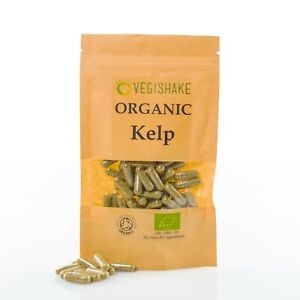 Organic Kelp HPMC Capsules High Grade vitamins A, B1, B2, C, D and E Vegan Halal