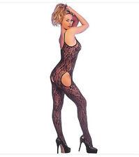 Noir à bretelles dentelle porte-jarretelles bodystocking body glamour s/m bas collants