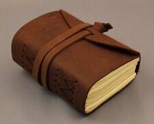 Lederbuch Notizbuch  Tagebuch Büffelleder braun Büttenpapier elegant klein 0094c