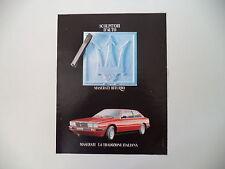 advertising Pubblicità 1984 MASERATI BITURBO