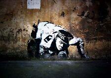 Poster Print Banksy Boring A3 A4