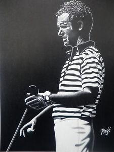 Edward Roge Tom Weiskopf The Open Championship Golf Lithograph
