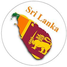SRI LANKA MAP / FLAG - ROUND SOUVENIR FRIDGE MAGNET - NEW - GIFT