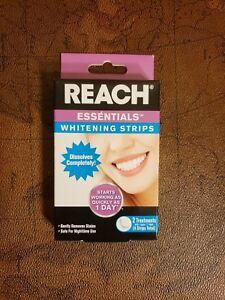 Reach Essentials Teeth Whitening Strips Enamel Safe 2 Treatments 4 Strips