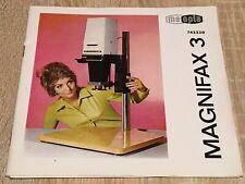 MEOPTA MAGNIFAX 3 - Gebrauchsanleitung Heft + Extra - DDR 1978