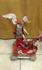 statuetta terracotta san michele uccide diavolo alta 38 cm circa artigianali