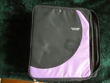 New Mead Five Star  3 Ring Binder w 2 sections Folder Pockets Purple Blk H7