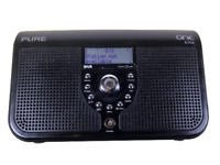 BLACK PURE ONE ELITE DAB /FM STEREO RADIO Portable Mains / Battery TESTED