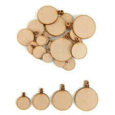 Christmas Blank Bauble MDF Craft Shapes Wooden Gift Tags Decoration circle xmas