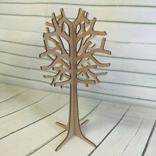MDF Wooden Freestanding 3D Tree Shape Jewelery FAMILY WISH TREE 29.5cm Tall
