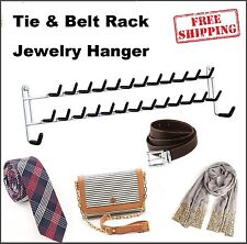 Jewelry Hanger Hanging Tie Rack Wall Mount Necklace Bracelets Ring Organizer New