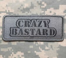 CRAZY BASTARD USA ARMY MORALE ISAF ACU DARK VELCRO® BRAND FASTENER PATCH