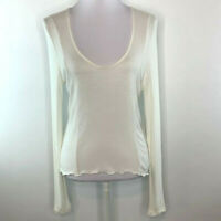 BP. Womens Pullover Ribbed Top Shirt Blouse Long Sleeve Off White Plus Size 1X