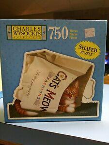 "New 2003 CHARLES WYSOCKI'S ""Cat's Meow"" 750 Piece Shaped Puzzle - Sealed"
