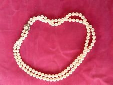 VERY FINE VINTAGE CULTURED PEARL NECKLACE WITH DIAMOND AND GOLD CLASP - P
