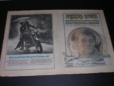 Vintage ROLLING STONE Quarter fold Newspaper #130 TIM LEARY 3.15.1973
