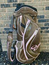 OGIO Women's Lightweight Golf Cart Bag Pink and Brown 7 Way Divider System
