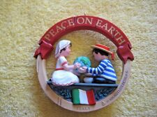 Hallmark Keepsake Christmas Ornament Peace on Earth Italy 1991