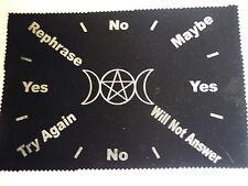 Pendulum mat Scrying Mat pendulum Wicca,pagan crystal divination spell supplies