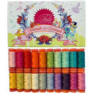 THREAD Auriful ~ CURIOUSER AND CURIOUSER ~ Tula Pink 220 yds/50 wt 20 Spool Set