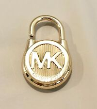 MICHAEL KORS LOGO GOLD MEDIUM LOCK HANDBAG CHARM  GOLD/OLIVE  NWOT