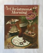 """Christmas Morning"". Crochet Tatting holiday ornament instruction & pattern book"