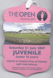 2007 British Open Ticket Saturday July 21st 3rd Tournament round Pádraig Harring