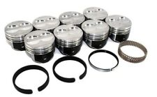 Sealed Power H345DCP 4 Valve Relief Flat Top Pistons & RIngs - Chevrolet SBC 350