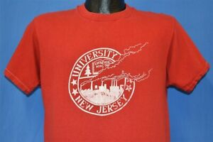 vtg 80s UNIVERSITY NEW JERSEY STATE RUTGERS SPOOF POLLUTION t-shirt COLLEGE M