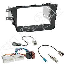 Kia Sorento II XM Facelift ab10/2012 Doppel 2-DIN Blende+ISO Adapter+Antenne SET