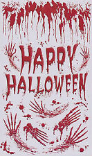 Happy Halloween Door Cover - Blood Splatter Wall Decoration 1m x 1.8m