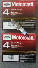 Set of 8 Motorcraft Spark Plug SP413 AGSF32N