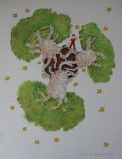 Antoine de SAINT-EXUPERY : Le Petit Prince et les baobabs # LITHOGRAPHIE SIGNEE