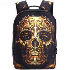 Fashion Skull Shoulder Backpack School Travel College Bag Men Women Rucksack #1