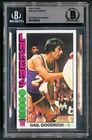 Gail Goodrich #1 signed autograph auto 1976-77 Topps Basketball Card BAS Slabbed