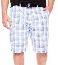 Men's Foundry Cargo Shorts W/Belt Size W 48 Sailor Blue NWT 11 Inch Inseam