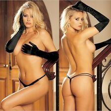 3 Pairs Black, Pink AND White One Size Regular Double Strap Microfiber G-String